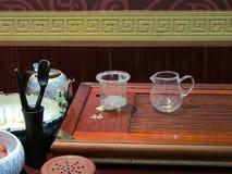 Artigos para o chinês da cerimônia de chá Foto de Stock Royalty Free