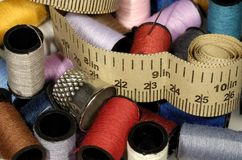 Artigos relacionados Sewing Imagens de Stock Royalty Free