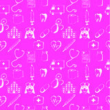 Artigos teste-médicos sem emenda cor-de-rosa Fotos de Stock Royalty Free