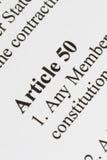 Artikel 50 Arkivbild