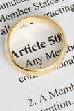 Artikel 50 Royaltyfri Fotografi