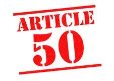 ARTIKEL 50 Rubberzegel royalty-vrije illustratie