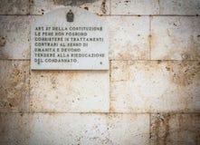 Artikel 27 van de Italiaanse Grondwet royalty-vrije stock afbeeldingen