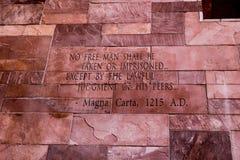 Artikel van Magna Carta-tekst stock afbeelding