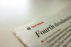 Artikeldruck der aktuellen Nachrichten Lizenzfreies Stockbild