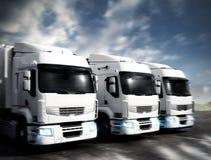 Artikulerade lastbilar royaltyfria bilder