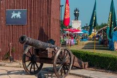 Artilharia antiga tailandesa em Kanchanaburi Tailândia Foto de Stock
