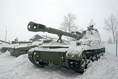 Artilharia automotora de SO-152 Akatsiya Fotografia de Stock