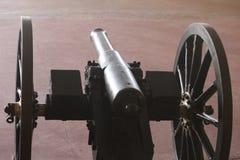 artilharia clara de opinião preta do canhão da cor Foto de Stock Royalty Free