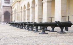 Artilharia de Napoleão histórica foto de stock