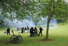 Artilharia despedida pelo partido naval da costa de União Fotos de Stock Royalty Free