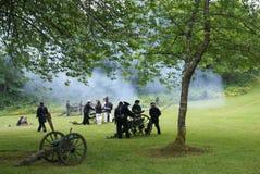 Artilharia despedida pelo partido naval da costa de União Fotos de Stock
