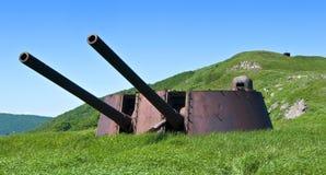 Artilharia formidável battery-2 da arma. Imagens de Stock