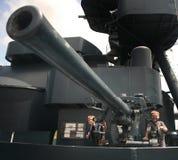 Artilheiros do cruzador de batalha Foto de Stock Royalty Free