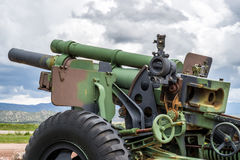 Artillary cannon us army 105mm M2 A2 Pullman Standard Stock Photography