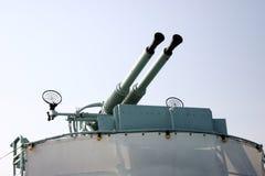 Artillería antiaérea Imágenes de archivo libres de regalías