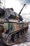 Artillería automotora - obús de 155 milímetros Imágenes de archivo libres de regalías