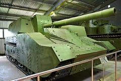 Artillería automotora pesada soviética SU-14-2 fotografía de archivo libre de regalías