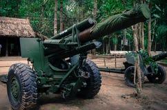 Artillería de la guerra de Vietnam Foto de archivo libre de regalías