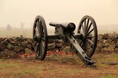 Artilleri på seminariet Ridge i Gettysburg den nationella militären parkerar Arkivbilder