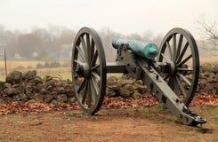 Artilleri på seminariet Ridge i Gettysburg den nationella militären parkerar Royaltyfri Fotografi