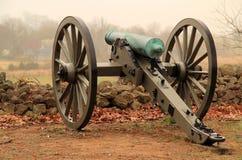 Artilleri på seminariet Ridge i Gettysburg den nationella militären parkerar Royaltyfria Bilder