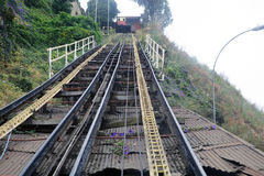 Artilleria funicular koleje w Valparaiso, Chile Obrazy Stock