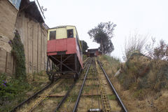 Artilleria funicular koleje w Valparaiso, Chile Zdjęcie Stock