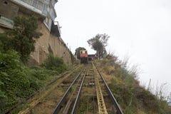 Artilleria funicular koleje w Valparaiso, Chile Zdjęcie Royalty Free