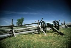 artilleribatteri napoleon Royaltyfri Bild
