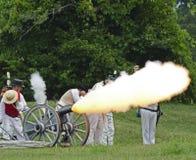 artilleridemonstration arkivfoto