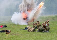 Artillerie atack royalty-vrije stock foto's