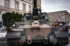Artillerie autopropulsée - obusier de 155 millimètres Photographie stock libre de droits