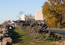 Artillerie in Gettysburg Lizenzfreies Stockfoto