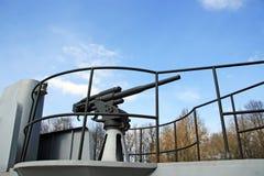 Artillerie navale Images libres de droits