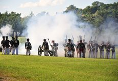 Artillerieangriff Lizenzfreies Stockbild