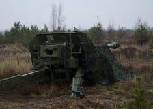 Artilleriekanon Stock Foto