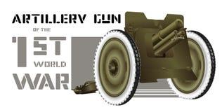 Artilleriekanon Royalty-vrije Stock Foto