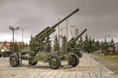 Artilleriekanon de USSR Stock Foto's