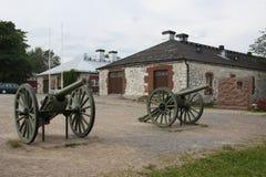 Artilleriekanone stockbilder