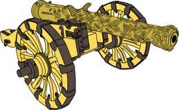 Artilleriekanonenvektor lizenzfreie abbildung