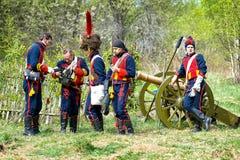 artilleristen Royalty-vrije Stock Afbeeldingen