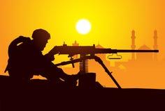 Artillero. Fotografía de archivo libre de regalías