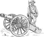 Artillero Imagen de archivo libre de regalías