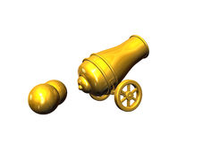 Artillery. 3d render image of a old Artillery Royalty Free Stock Image