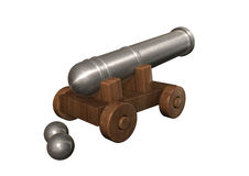 Artillery. 3d render image of a old Artillery Stock Image