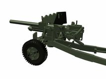 Artillery. A artillery over white background Royalty Free Stock Photo