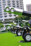 Artillery for 21 gun salute during NDP rehearsal Stock Photo