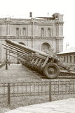 Artillery Arsenal. Black and white royalty free stock images