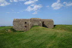 Artillery battery of Longues sur Mer in Basse Normandie Stock Images